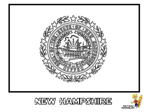 state flag of pennsylvania coloring pages