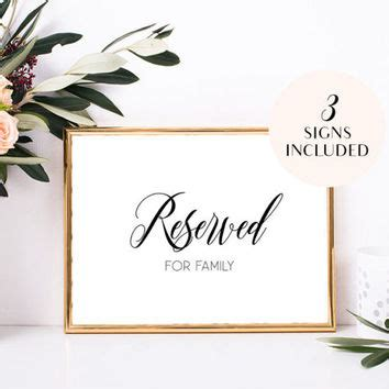 Reserved Seating Card Template Ceremony by Shop Wedding Seating Sign On Wanelo