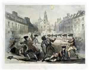 the boston massacre in black white amp color streetsofsalem