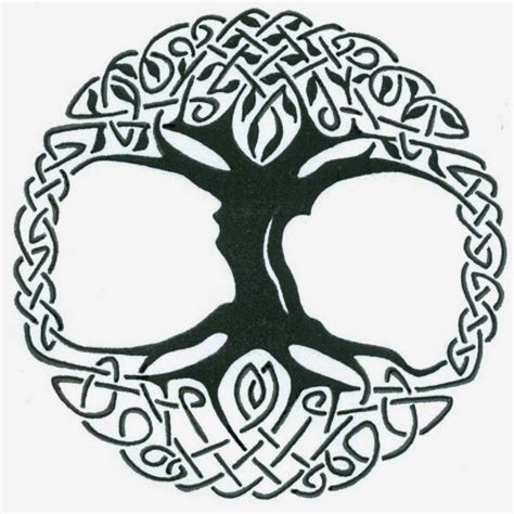 celtic tree tattoo designs black celtic tree of stencil by captain bret