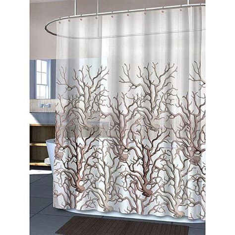 Coral Shower Curtains Hydra Coral Shower Curtain Summer Sea Motifs