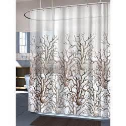 sea curtains hydra coral shower curtain summer sea motifs pinterest