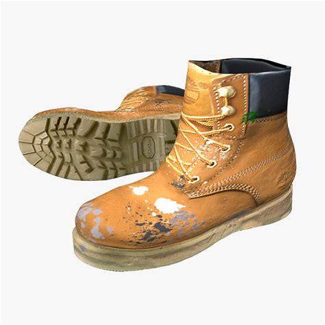 timberland boot new model free ready timberland working boots 3d model