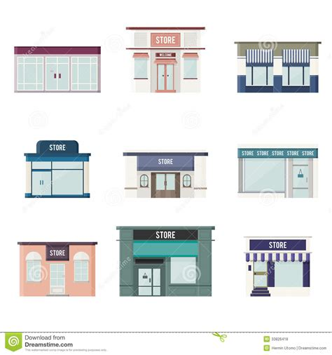 store layout vector flat 3d stores royalty free stock photos image 33826418
