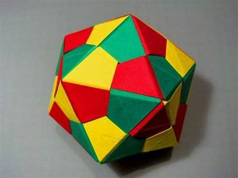Modular Origami Icosahedron - how to make an origami icosahedron triangle edge modules