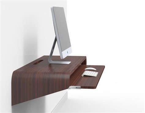 floating desk design float wall desk minimal home office concept by orange22