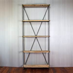 bookcase made of reclaimed wood from 1880s barn by