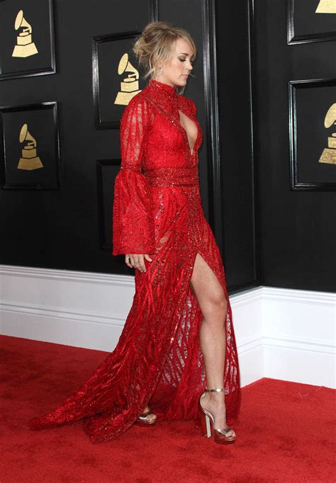 At The carrie underwood at the 59th grammy awards in los angeles