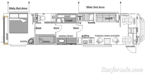 bus motorhome floor plans 2007 prevost bus new and used buses motorhomes and rvs