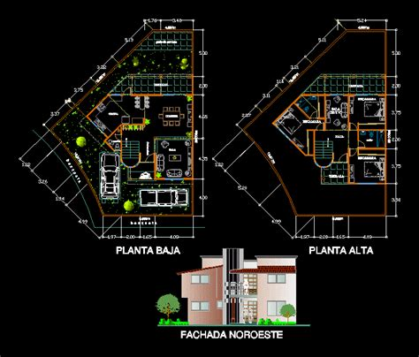 house plan dwg house 2d dwg plan for autocad designscad