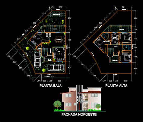 home design dwg house 2d dwg plan for autocad designscad