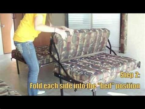travel trailer sofa bed hide away dinette sofa bed toy hauler rv travel
