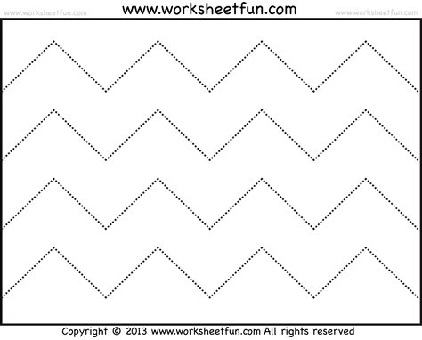 zigzag tracing pattern zig zag line tracing 7 worksheets free printable