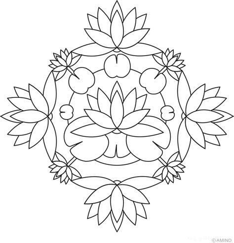 Free Mandalas Coloring Gt Flower Mandalas Gt Flower Mandala | flower mandalas lotus mandalas rangoli designs