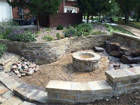 sunken backyard pit sunken sted patio pit opp concrete wichita
