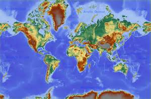 freer map world physical map