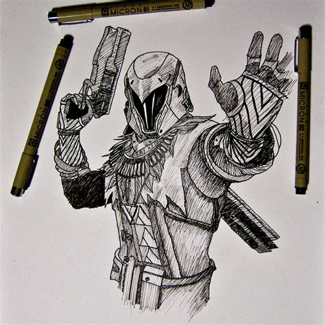 Destiny 2 Sketches by Destiny Warlock Drawing By Flich On Deviantart