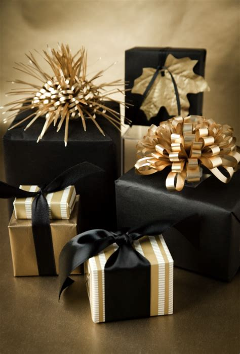 black and gold gift wrapping gift wrapping diy