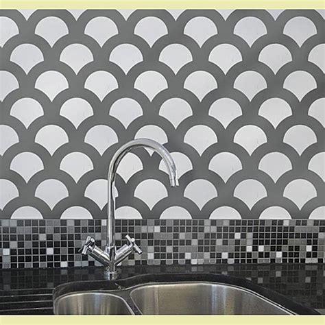 modern wall stencil scallop allover stencil modern wall stencils by
