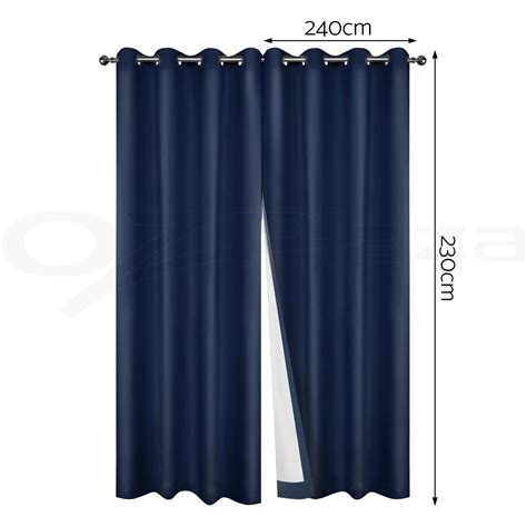 pure curtains 2x blockout curtains 3 layers eyelet pure fabric 100