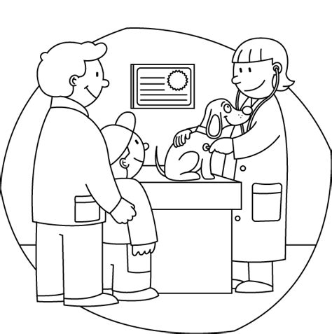 coloring pages veterinarian myvetonline colour in vet visit