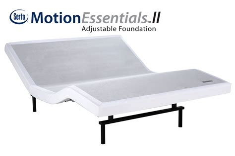 serta 174 motion essentials ii xl king split adjustable foundation