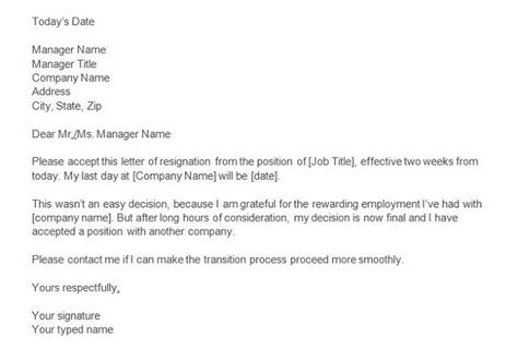 Sle Letter Of Resignation 2 Weeks Notice by Two Weeks Notice Letter How To Write Guide Resignation Letter Sles