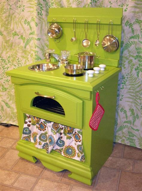 diy play kitchen ideas what a great idea up cycled stand quot custom play