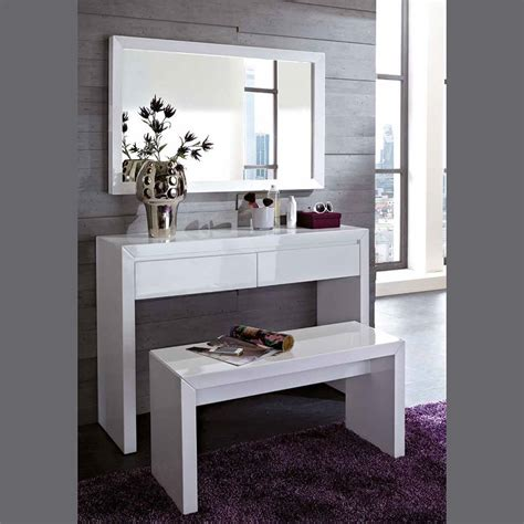 Commode D Entree by Meuble Commode D Entr 233 E Coiffeuse Blanc Laqu 233 Design