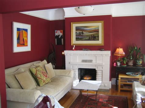 painted rooms pictures white ceiling ixed red painted room wall combined with white fireplace and beige velvet sofa