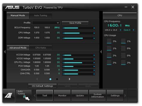 Turbov Evo Auto Tuning by Asus P8z77 V Premium Software Asus P8z77 V Premium