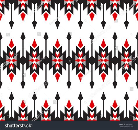 tribal geometric pattern tribal seamless colorful geometric pattern stock vector