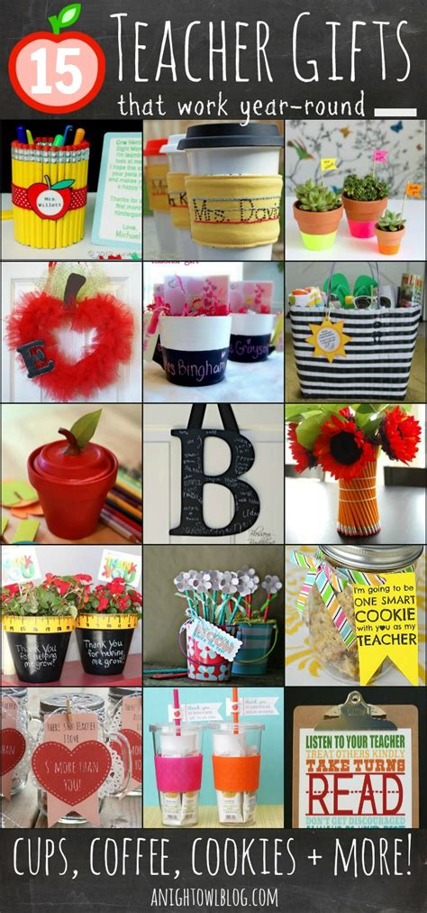 fun gifts ideas 15 fun teacher gift ideas a night owl blog