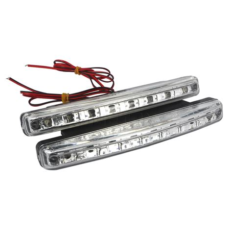 Automotive Led Light Bars Car Light Bar Led 2pcs Bar Led 12v Car Light Daytime Driving Running Light Www Hempzen Info