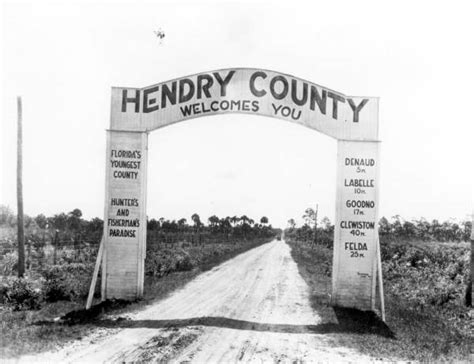 Hendry County Court Records Florida Memory Hendry County Welcome Sign At The Hendry County Line Hendry