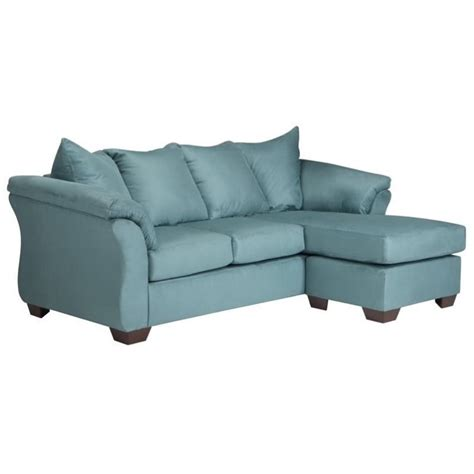 ashley darcy sofa ashley darcy fabric 2 piece chaise sofa in sky 7500618