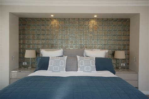 tiled bedroom moroccan mystique feature wall contemporary bedroom