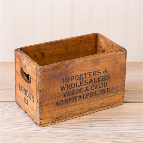 small crate small spitalfields wooden vintage style crate by the flower studio