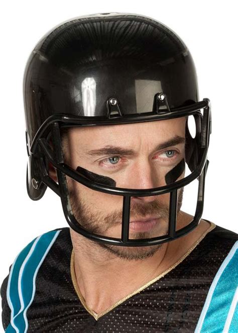 adult fancy dress black american football helmet 47020 a