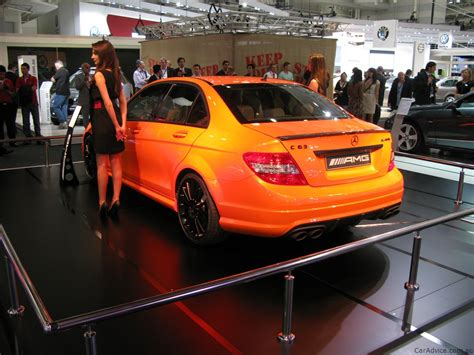 orange mercedes mercedes benz c63 amg orange at 2010 aims photos caradvice