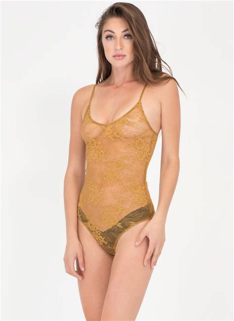 Sheer Lace Bodysuit bloom with a view sheer lace bodysuit yellow gojane