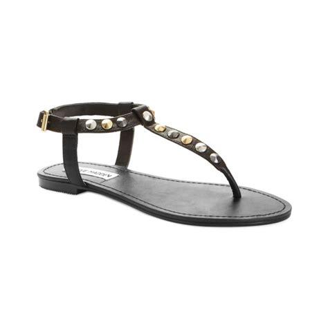 steve madden sandals flat steve madden virrtue flat sandals in black lyst