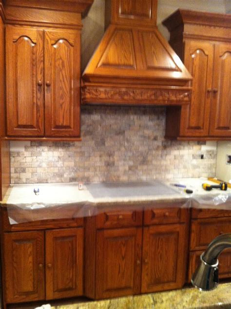 Tumbled Marble Kitchen Backsplash Tumbled Marble Backsplash My Kitchen Pinterest