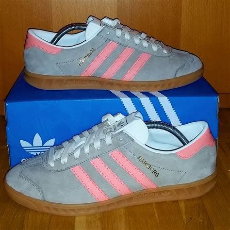 adidas hamburg shoe adidas grey pink from sort it apps
