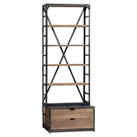 metal and wood bookcase wood metal bookcase pbteen
