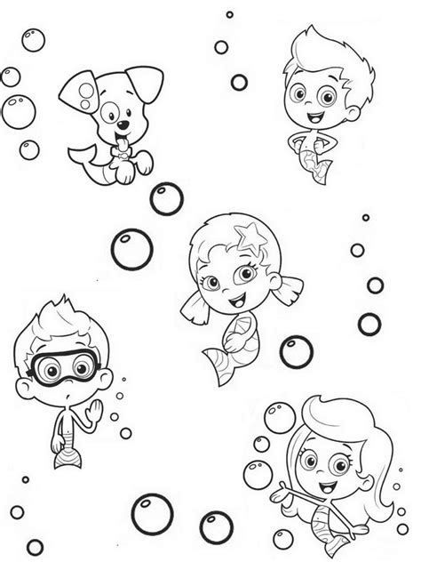 free printable coloring pages guppies coloring page guppies 8