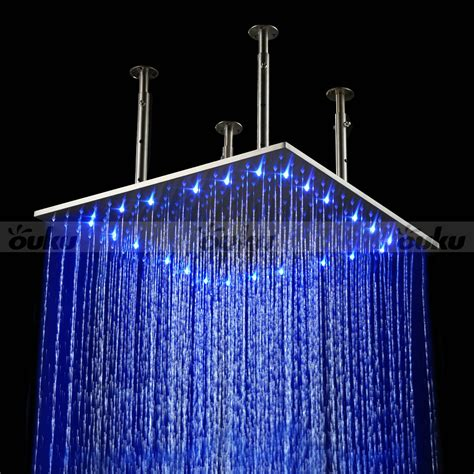 led light shower 20 quot large led shower set faucet waterfall