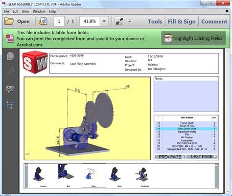 Solidworks Model Based Definition Mbd 2015 Arrived Solidworks 3d Pdf Template