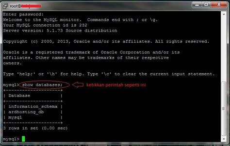 mysql console import cara eksport import database mysql dengan ssh console