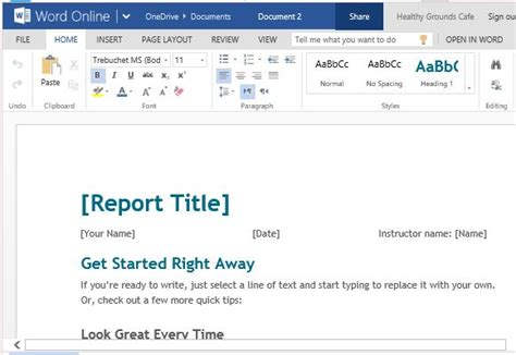 reporting templates in word free student report template for word